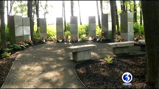 A memorial was built to honor the people killed in the shooting. (WFSB)