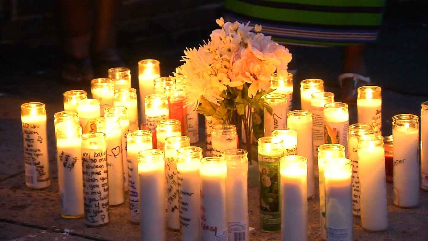 Friends and family of Devon Mitchell attended a vigil on Saturday night. (WFSB photo)