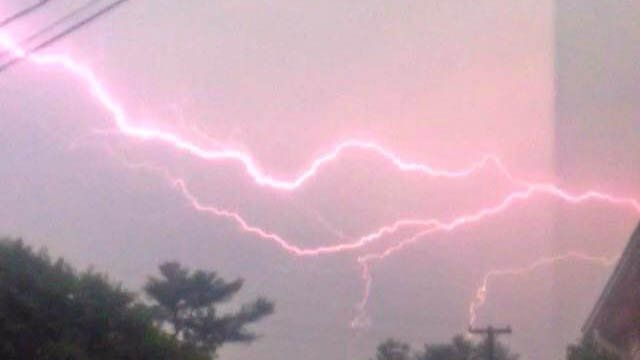 Lightning seen in Moosup. (Christopher Andrew Farina? photo)