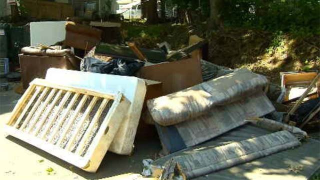 Garbage piles up outside Hartford apartment complex (WFSB)