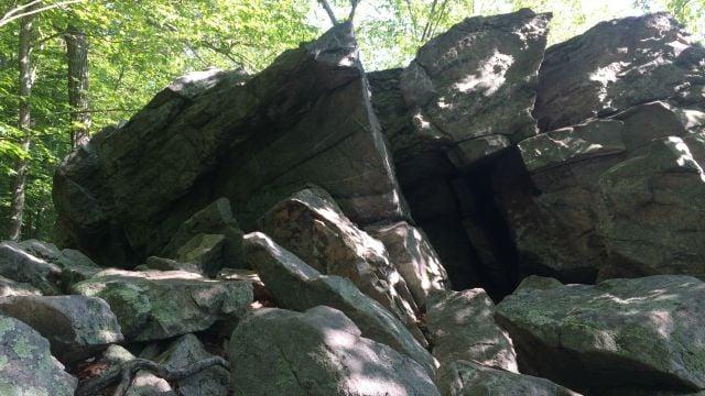 Rock formations at Godfrey Pond