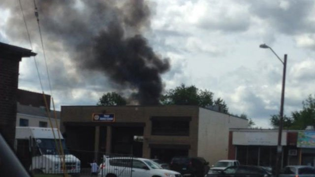 WFSB Viewer Jb Bonilla sent in this photo of the Hartford fire.