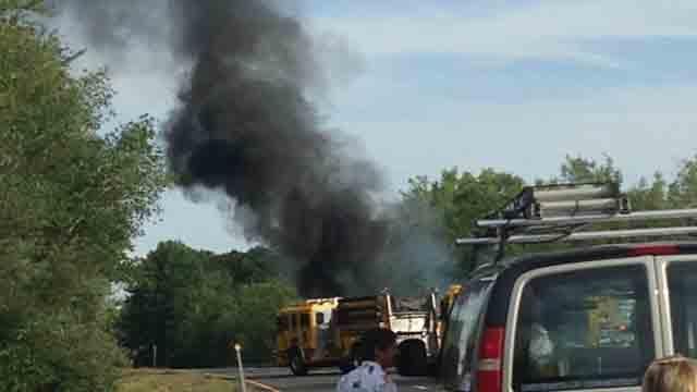 Car fire closes Route 9 south in Haddam (WFSB)