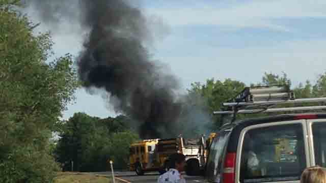 Car fire closes Route 9 south in Haddam (WFSB)
