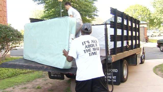 The mattress recycling program is another green initiative for CCSU. (WFSB)