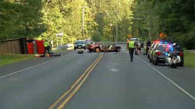 Serious crash closes Route 6 in Coventry (WFSB)