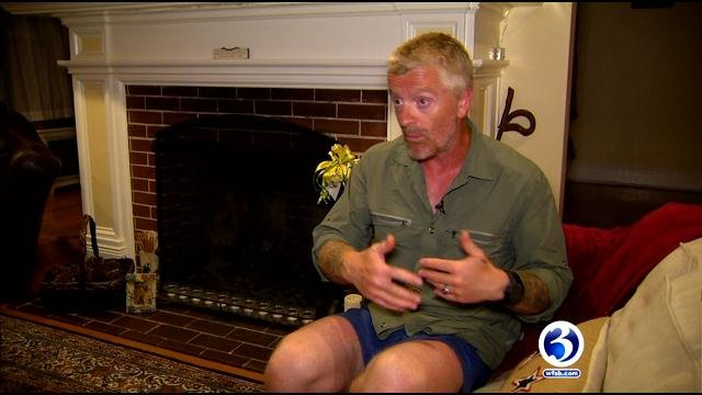 Neil Davis during his stay in Manchester. (WFSB photo)