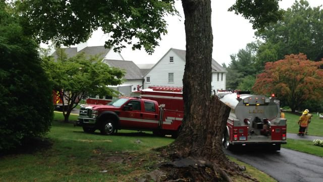 Firefighters were called to a house fire on Brae Burnie Lane in Bloomfield. (WFSB)