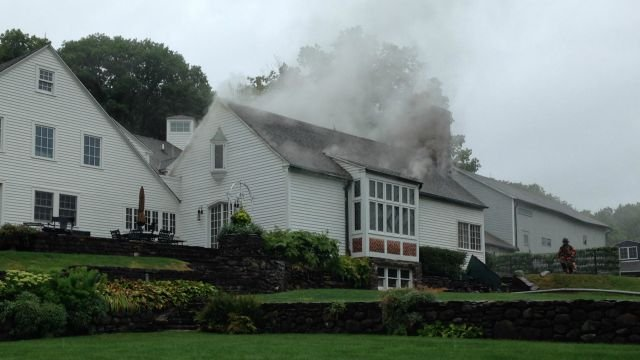 There were no reported injuries after a fire on Brae Burnie Lane in Bloomfield on Tuesday. (WFSB)