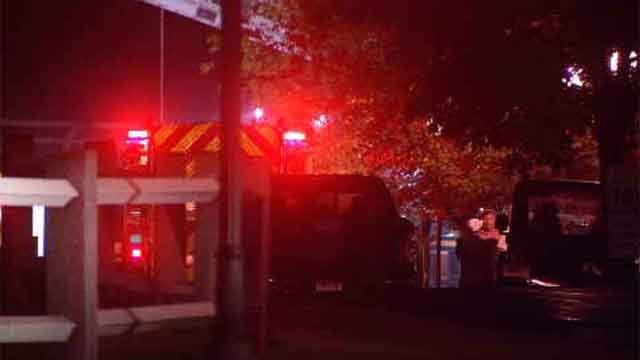 Crews responded to a fire that broke out at a maintenance building at Cheshire Academy on Tuesday night. (WFSB)