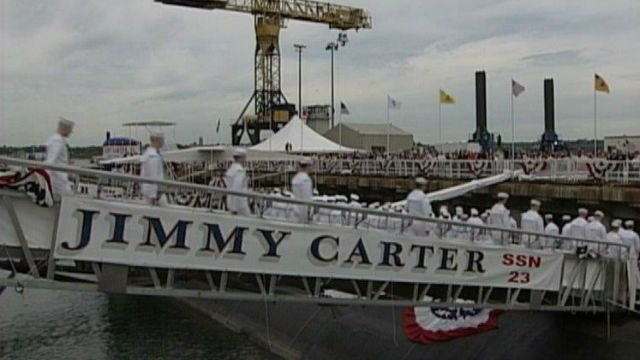 USS Jimmy Carter was christened by the former president in 2004. (WFSB file)