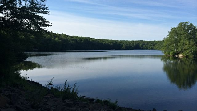 Millers Pond State Park and Ocean Beach State Park reached capacity Saturday. (WFSB)