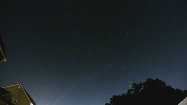 Eyewitness News photographer Kevin Galliford recorded a time lapse of the meteor shower. (Galliford photo)
