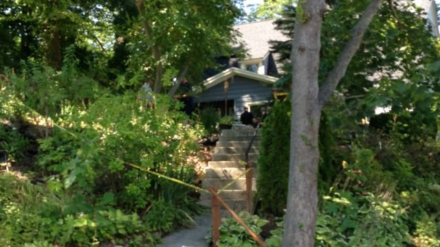 Yellow tape surrounds home on Howe Avenue in Shelton. (WFSB)