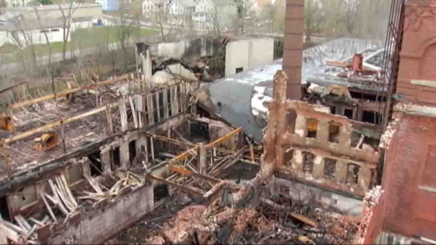 Remnants of the Nova Dye factory (WFSB file photo)