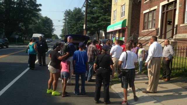 Friends and family gather before searching for Jackson. (WFSB)