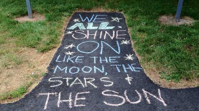 Shannon Marie from Meriden crafted this on her sidewalk.