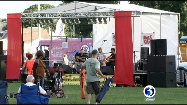 Dozens attended the Rock the Valley event on Saturday night . (WFSB)
