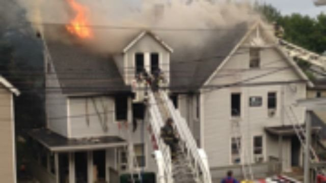 WFSB viewer Andy sent us this photo of the fire at 204 Derby Ave.
