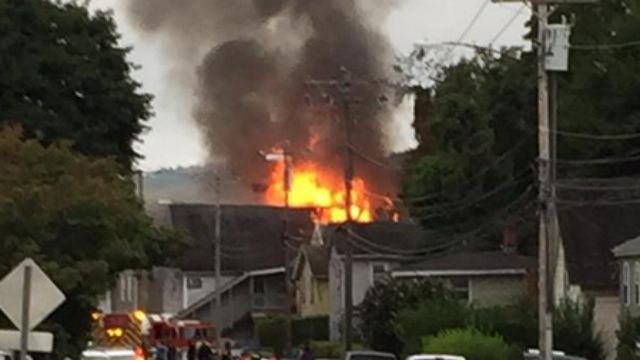 Nancy Bauer snapped this photo of the fire.