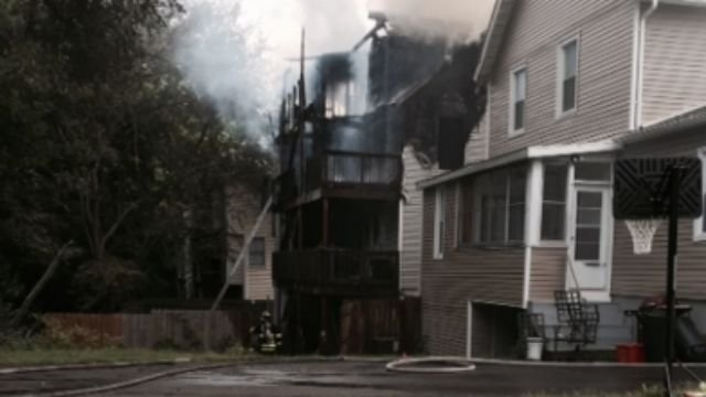 The apartment building looks like this after the fire. (WFSB)