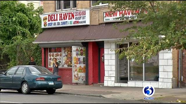 Pizza restaurant employee was stabbed after a robbery at the Deli Haven Market. (WFSB)