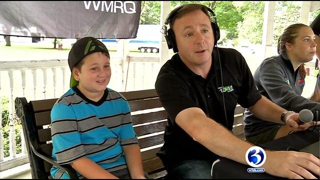 Anthony Longley was a guest radio DJ after the station changed its name in his honor on Tuesday. (WFSB)