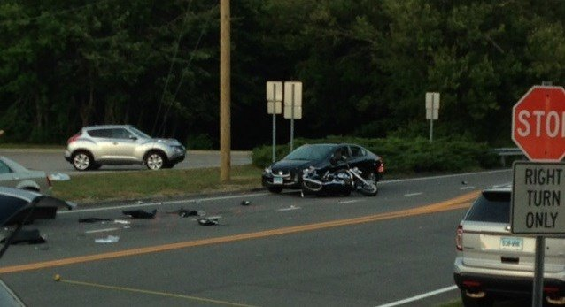 Serious injury reported in Flanders motorcycle crash (WFSB)