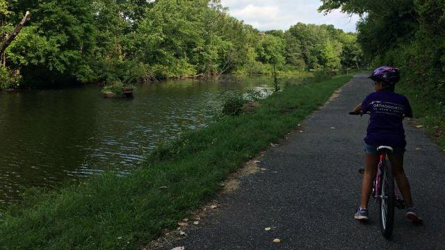 Biking on the Windsor Locks Canal Trail
