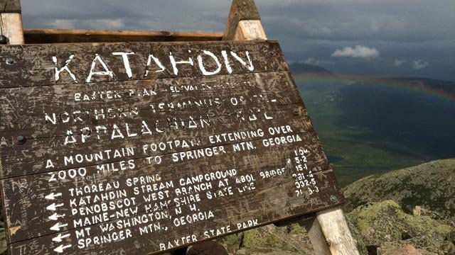The summit of Mt. Katahdin is the northern terminus of the Appalachian Trail. (AP photo)