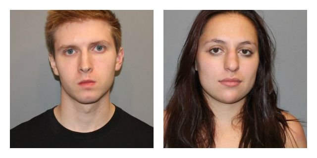 Renny Isaac and Julia Armijo were charged in connection with a boat burglary. (Norwalk Police Department)
