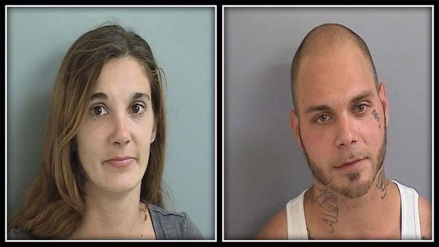 Danielle Wells and Richard Martel (Plainville Police)