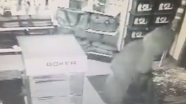 Police released surveillance video of the possible Shelton gun store burglary suspect. (Shelton Police Department)