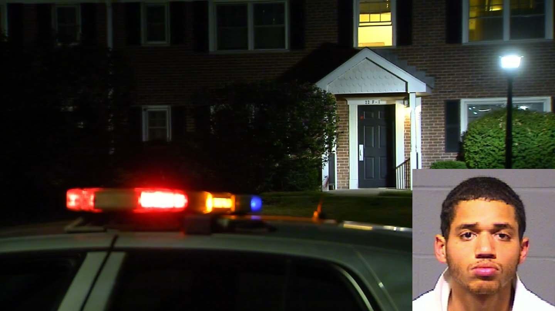 Aaron Taylor was arrested in Hartford Thursday night. (WFSB/Hartford police photos)