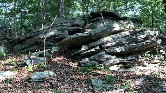 Rocky outcropping hints at volatile geology