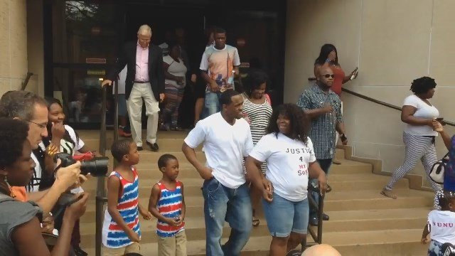 Bobby Johnson was freed in New Haven on Friday. (WFSB photo)