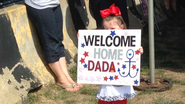 This little girl was waiting for her 'dada' to come home. (WFSB photo)