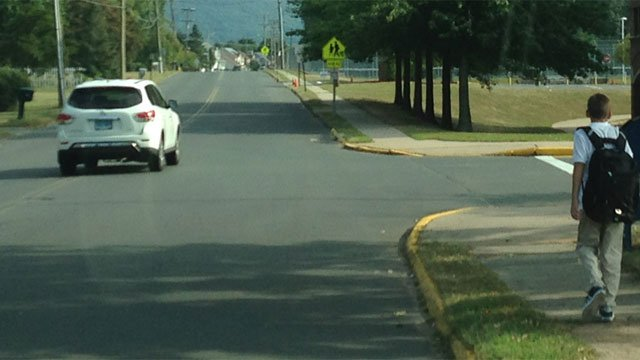 Police patrols were increased near Southington High School after a bear sighting on Friday. (WFSB)