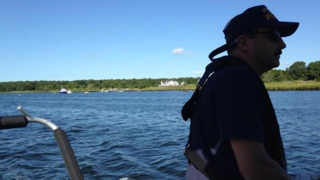 Eyewitness News tagged along with the Stonington Police Marine Unit over the holiday weekend. (WFSB)