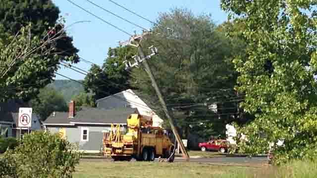 Crash into utility poles closes part of Route 72 in Bristol (WFSB)