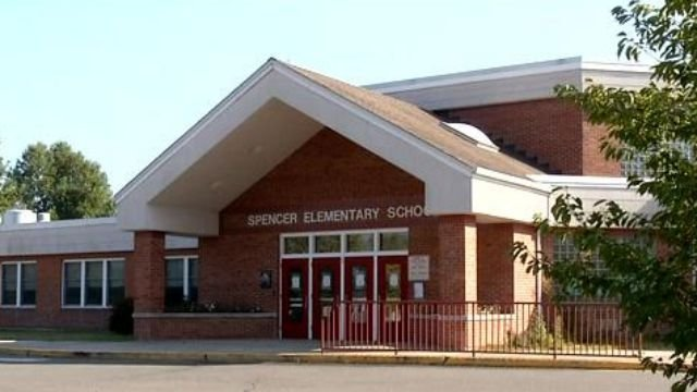 Several schools including Spencer Elementary in Middletown are dismissing early because of the hot weather.(WFSB photo)