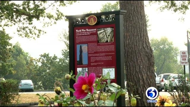 Signs across New Britain are helping showcase the city's rich history. (WFSB)