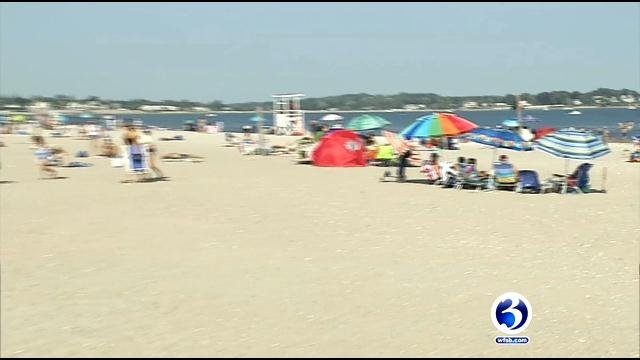 People packed the Connecticut beaches on Monday. (WFSB)
