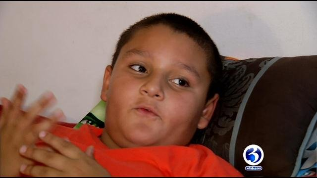 Renielle Rodriguez's mother said he was taken to the hospital for dehydration. (WFSB photo)