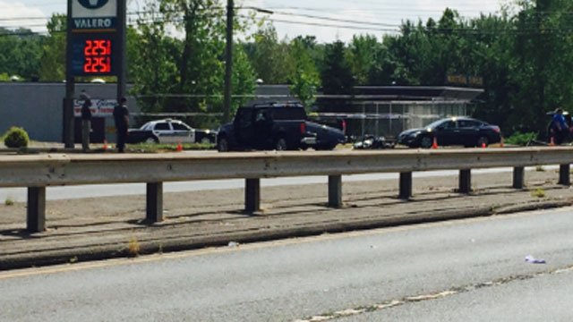 Berlin Turnpike reopens after crash between motorcycle