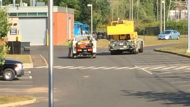 A blown transformer caused a power outage at Wilcox School. (WFSB)