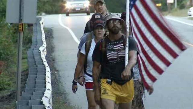 Group marching through CT to raise awareness about veteran suicide (WFSB)