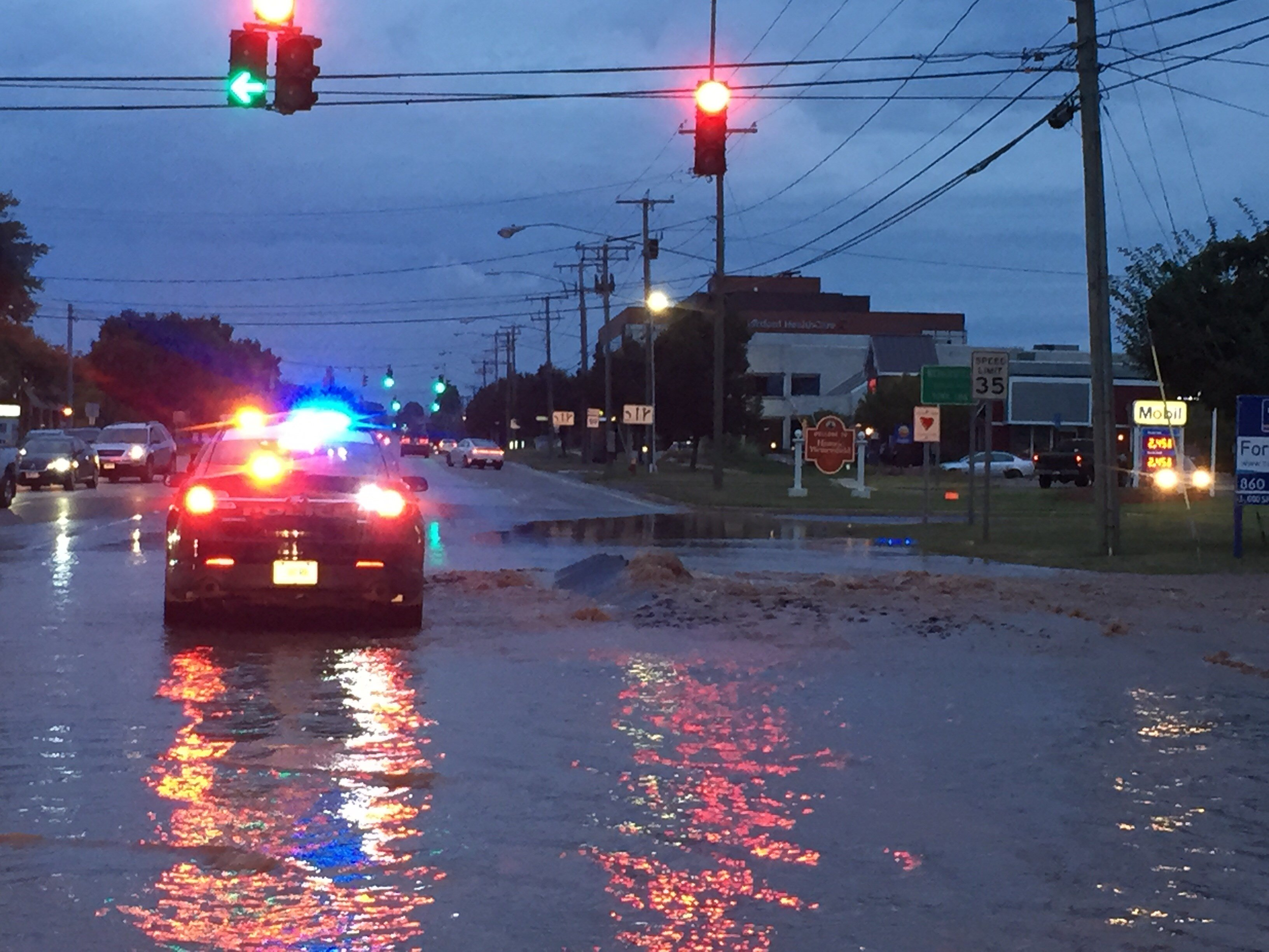 Silas Deane Highway Reopened After Water Main Break