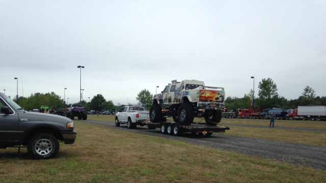 16th annual Wishes-On-Wheels truck convoy was held at Rentschler Field Sunday (WFSB)