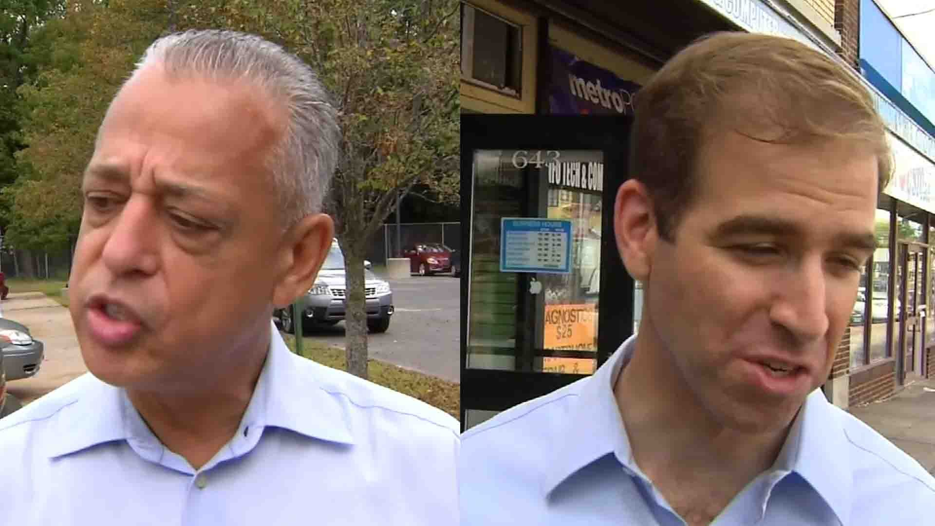 Mayor Pedro Segarra and challenger Luke Bronin. (WFSB photos)